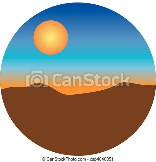 Sunset desert - csp4040351