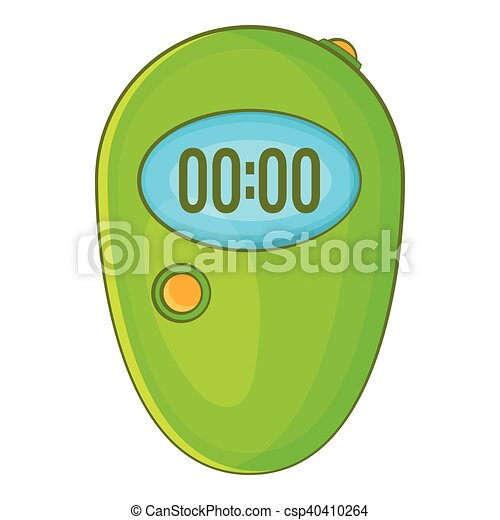 Digital stopwatch cartoon