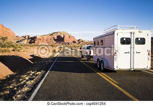 Transporting horses - csp4041254