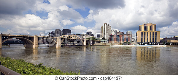 Stock photography of panoramic grand rapids michigan usa for Architects in grand rapids mi