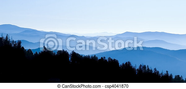 Smoky Mountains Panoramic - csp4041870