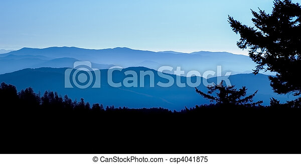 Blue Ridge Mountain Panoramic - csp4041875
