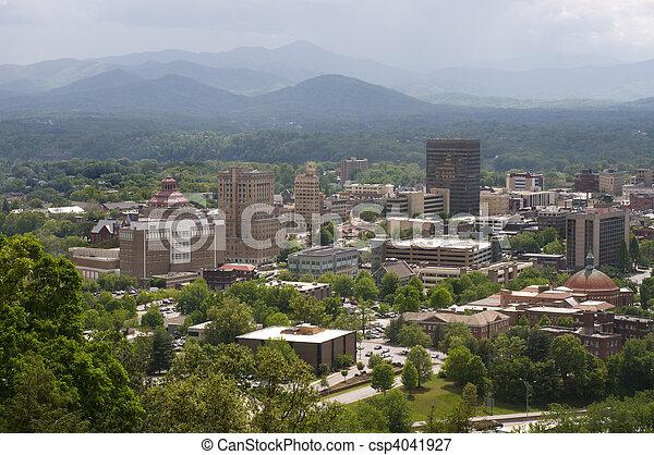 Asheville North Carolina Skyline - csp4041927