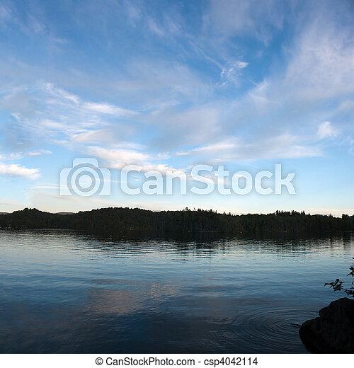 Lower Saranac Lake Panorama - csp4042114