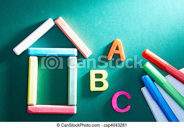 Elementary school objects - csp4043281