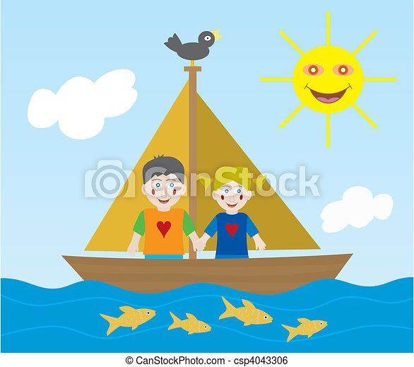Kids sailing adventure - csp4043306