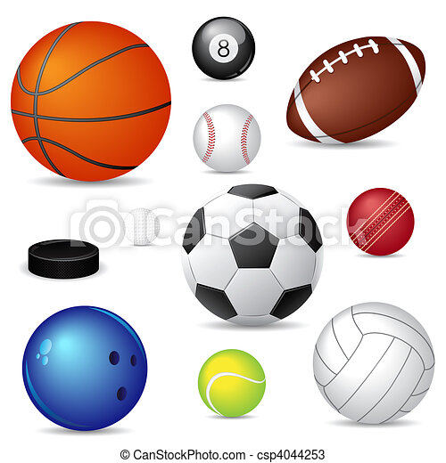 sport balls csp4044253 - Sports Drawing Pictures