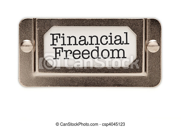 Financial Freedom File Drawer Label - csp4045123