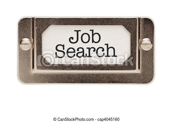 Job Search File Drawer Label - csp4045160