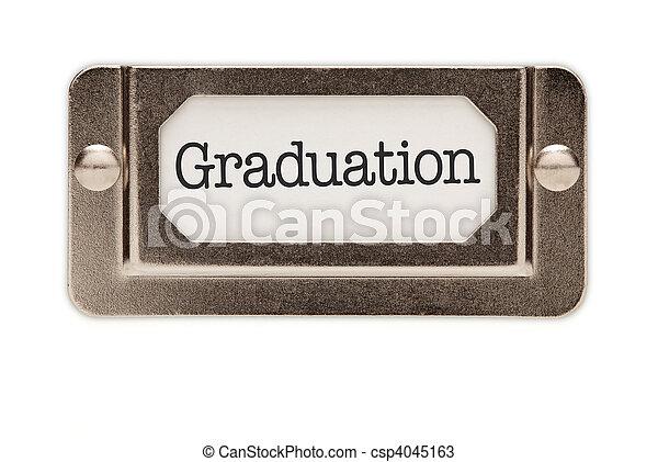 Graduation File Drawer Label - csp4045163