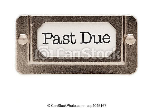 Past Due File Drawer Label - csp4045167