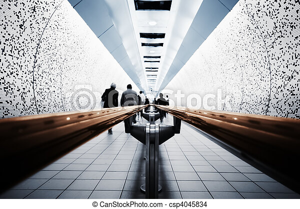 Abstract picture of Commuters ( London, Underground) - csp4045834