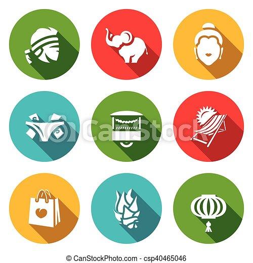 eps vector of vector set of thailand icons muay thai muay thai logo meaning muay thai colorado springs