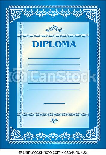 diplôme - csp4046703