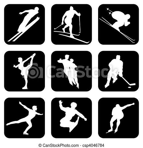 winter sports - csp4046784