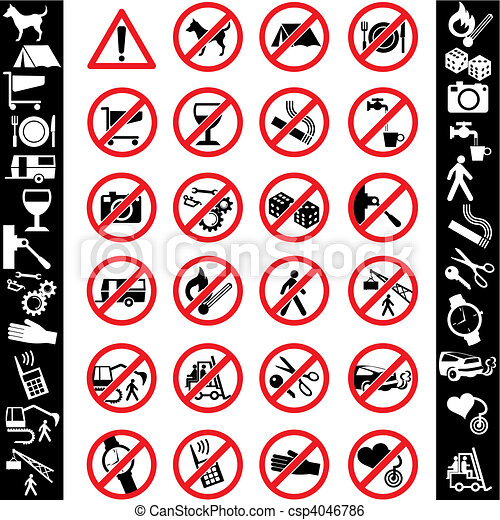 safety ikons - csp4046786