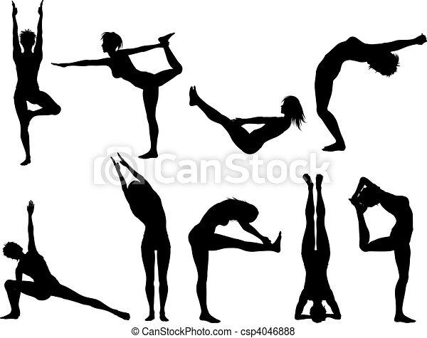 Yoga poses - csp4046888