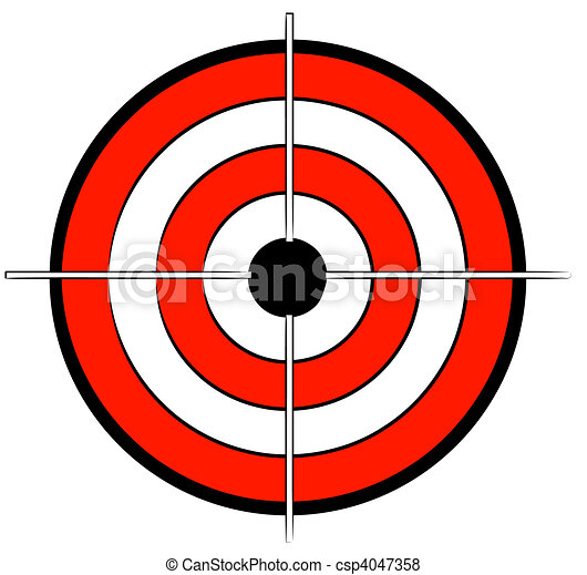 red white and black bullseye target - csp4047358