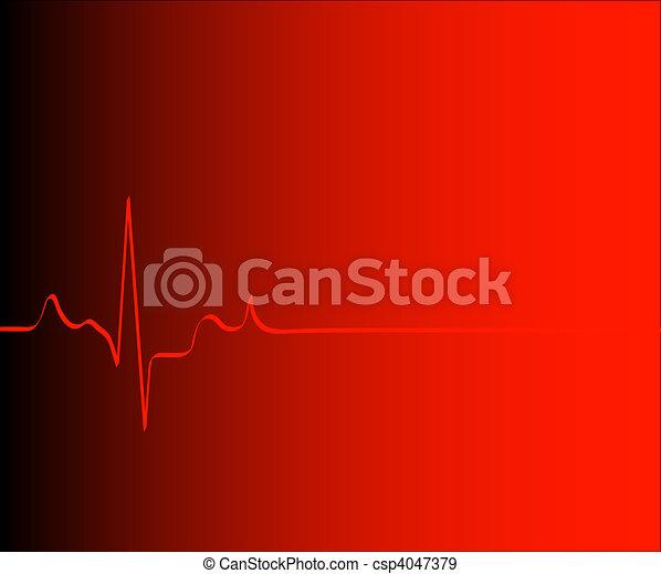 Coração, ritmo, gradiente, vermelho, fundo, -, vetorial - csp4047379