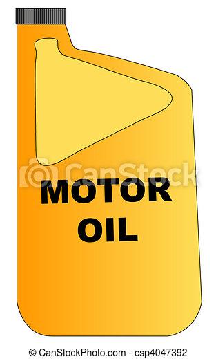 yellow plastic bottle of motor oil  - csp4047392