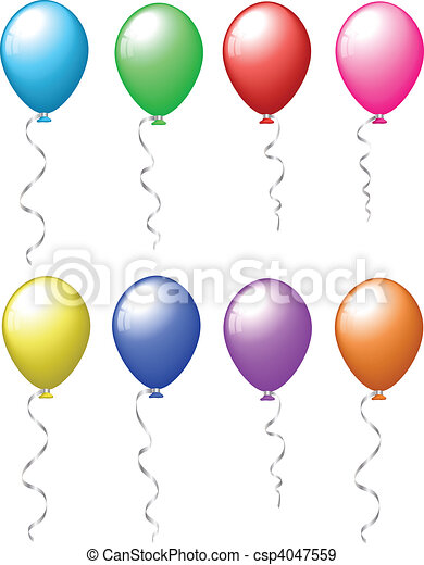 Colourful balloons - csp4047559