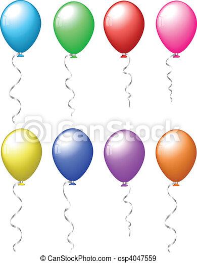 Colourful balloons - csp4047559