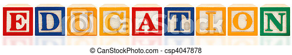 Alphabet Blocks Education - csp4047878