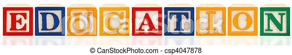 alfabeto, Educação, blocos - csp4047878