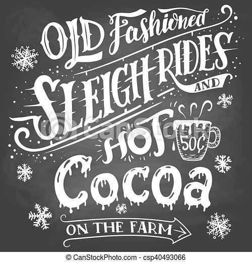 Old fashioned sleigh rides and hot cocoa - csp40493066