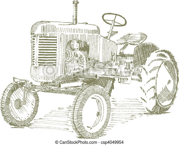 Old Tractor - csp4049954