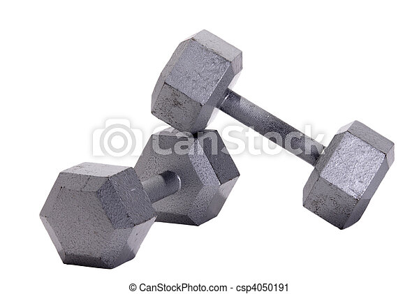 Stacked Metal Hex Dumbbells - csp4050191