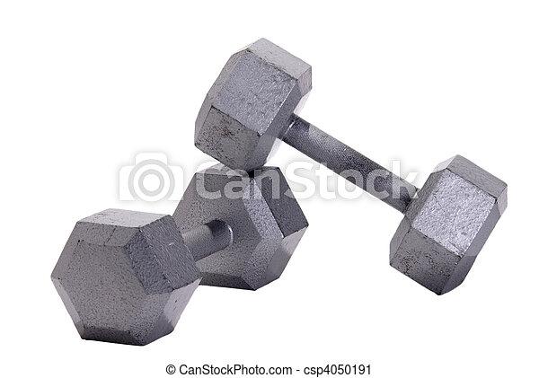 Stacked Metal Hex Dumbbells - csp4050191