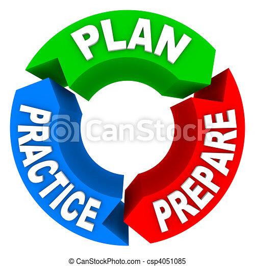 Plan Practice Prepare - 3 Arrow Wheel - csp4051085