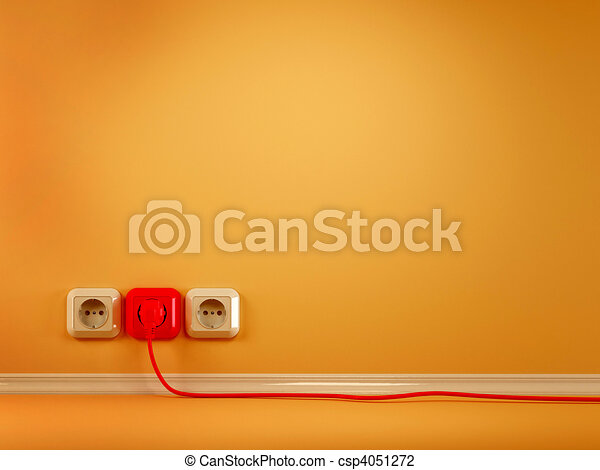 Plugs and Socket. Abstract background - csp4051272