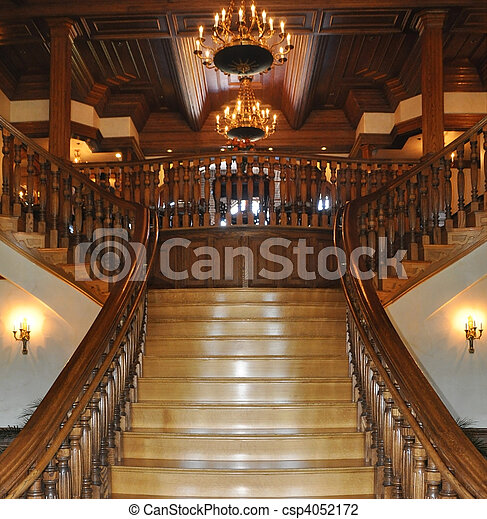 Stock Photo Of Grand Entrance To A Mansion Csp4052172