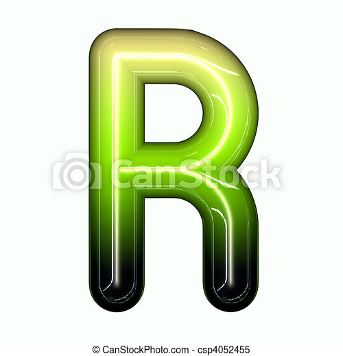 Stock Illustration - green shiny glossy 3d child funny bubble alphabet ...