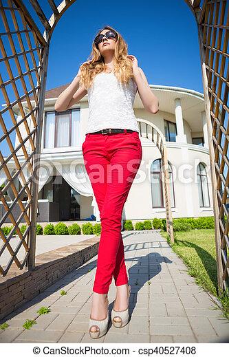Beautiful blond woman - csp40527408