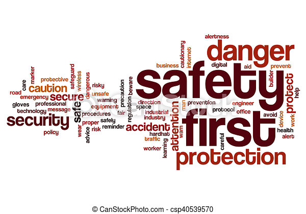 Safety first word cloud - csp40539570
