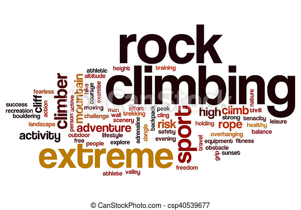 Stock Illustrations of Rock climbing word cloud concept ...