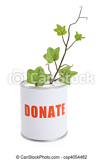 Donation Box and Green Plant - csp4054482