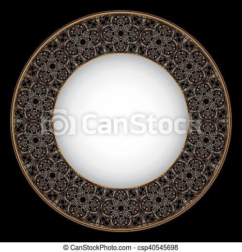 Thin gold pattern - csp40545698