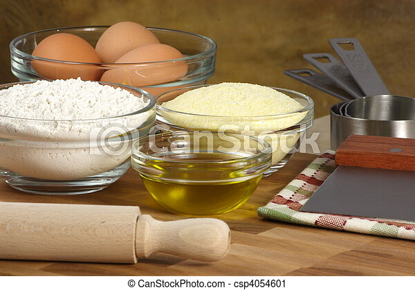 fresh tortellini ingredients - csp4054601