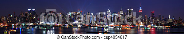 New York City Manhattan skyline panorama - csp4054617