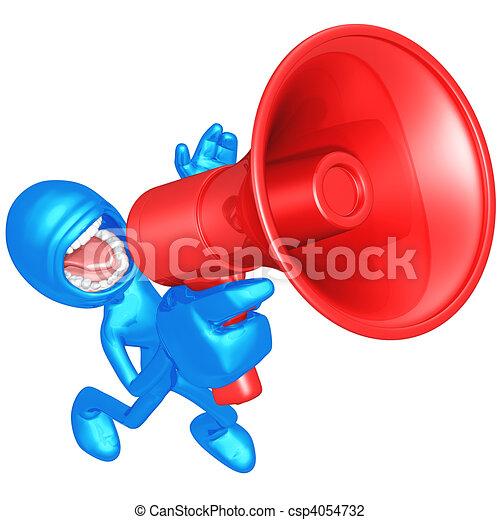 Megaphone Screaming - csp4054732