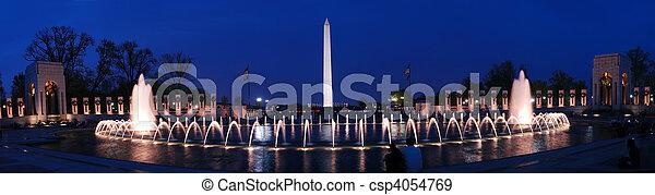Washington monument panorama, Washington DC. - csp4054769