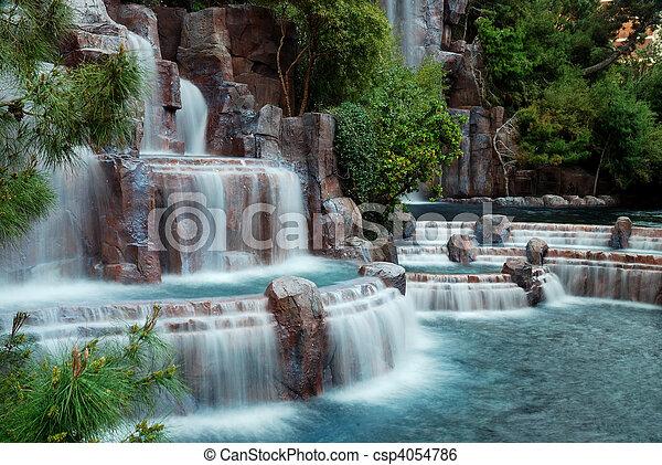 Waterfall mountain, Las Vegas - csp4054786