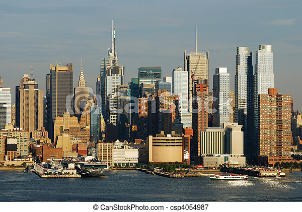New York City Times Square skyline - csp4054987