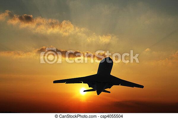 Aircraft landing - csp4055504