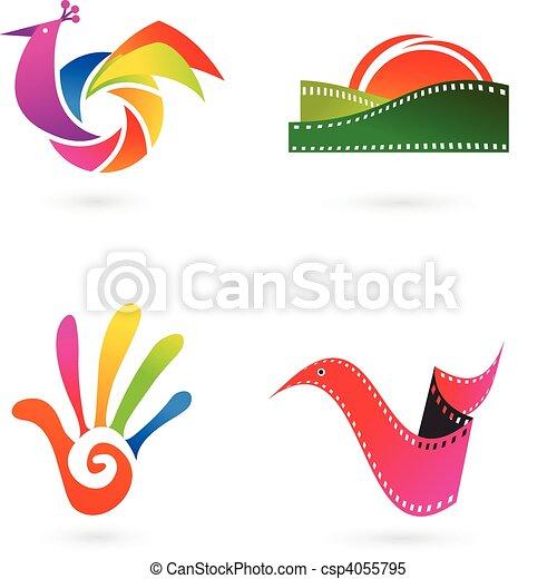 Art, cinema and photo icons - csp4055795