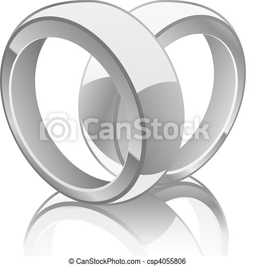 Vector illustration of wedding rings illustration of wedding rings